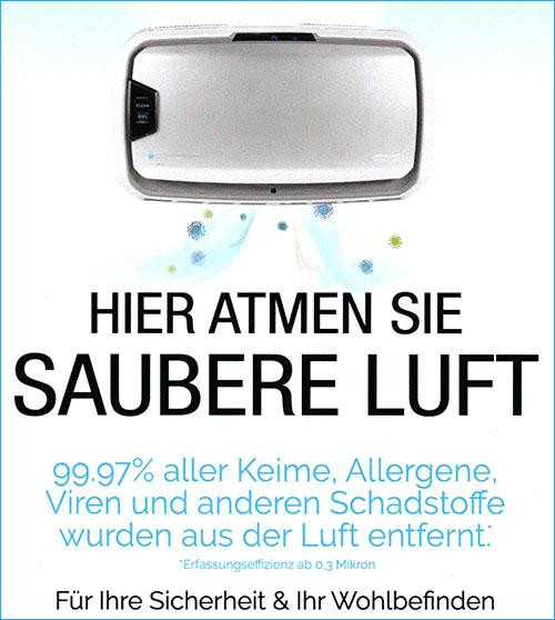 Luftfilter - Praxis für Physiotherapie Katrin Dau in 40591 Düsseldorf